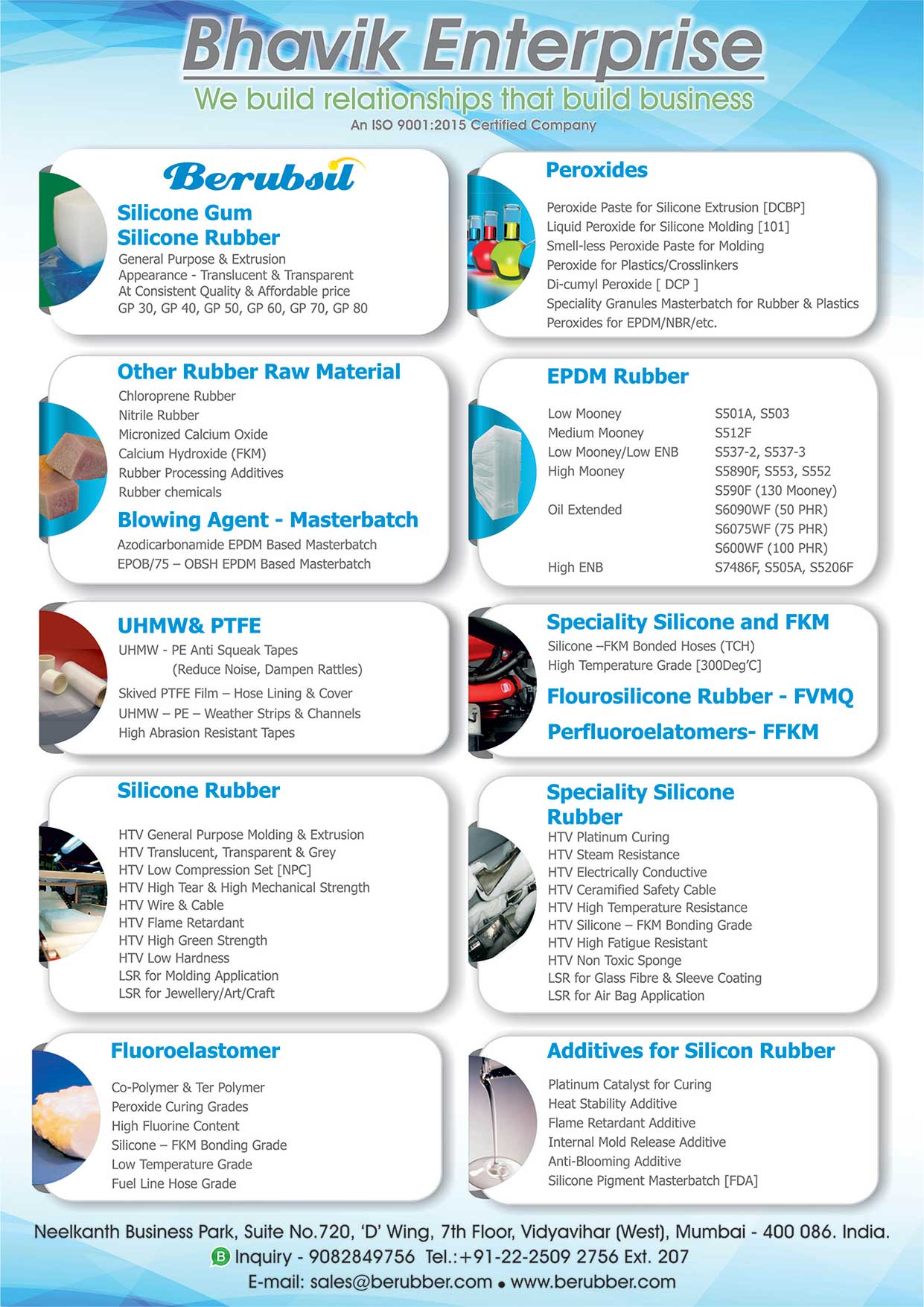 Bhavik Enterprise - Importer and Distributor of Synthetic Rubber